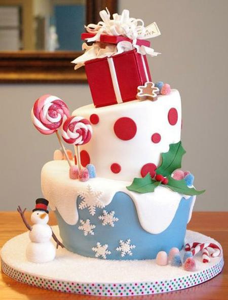 مدل های کیک کریسمس,مدل تزیین کیک کریسمس