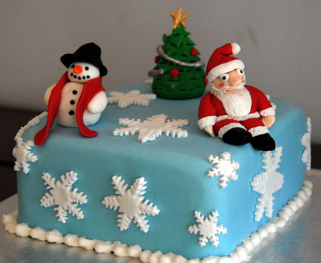 تزیین کیک تولد ویژه کریسمس,تزیین کیک به شکل بابانوئل