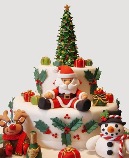 تکنیک های تزیین کیک کریسمس,مدل کیک کریسمس