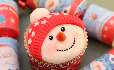 تزیین کیک کریسمس, مدل های تزیین کاپ کیک کریسمس
