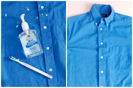 تمیز کردن لکه های رنگ از روی لباس