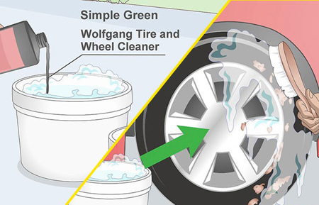 راهنمای تمیز کردن وسایل لاستیکی,تمیز کردن تایرهای خودرو