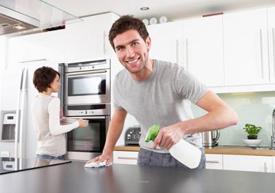 لکه های چرب آشپزخانه, پاک کردن لکه های چربی
