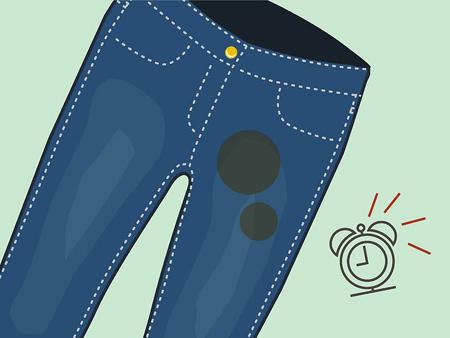 نحوه پاک کردن لکه روغن از شلوار جین,از بین بردن لکه روغن از شلوار
