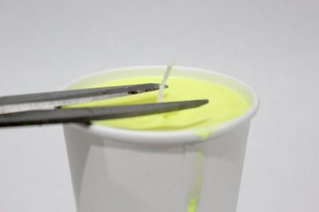 ساخت شمع مخروطی,درست کردن شمع مخروطی سه رنگ
