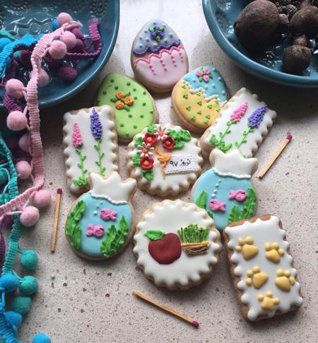 تزیین شیرینی های نوروزی,کوکی هفت سین