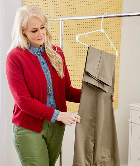 طرز آویزان کردن شلوار به چوب لباسی, روش های آویزان کردن شلوار به چوب لباسی, اصول آویزان کردن شلوار به چوب لباسی