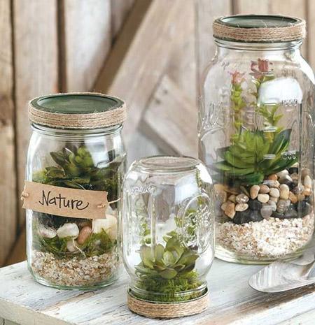 تزیین شیشه سس,استفاده از شیشه های انواع مواد غذایی ,ایدههای خلاقانه برای تزیین و استفاده مجدد شیشه سس