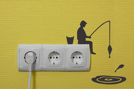 تزیین کلید و پریز برق,تزیین پریز و کلید برق با خلاقیت های زیبا و جالب,خلاقیت روی پریز برق با ایده های جالب و جذاب
