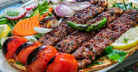 تزیین نان و کباب, نحوه ی تزیین نان و کباب