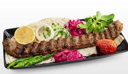 نحوه ی تزیین نان و کباب, تزیین کباب کوبیده با نان تزیین جوجه کباب با نان