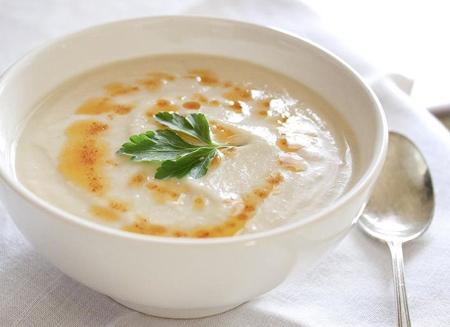 لاغری با سوپ جو تزیین سوپ جو با شیر