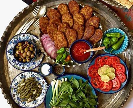 روش های تزیین کتلت و کباب شامی,تزیین کتلت و شامی