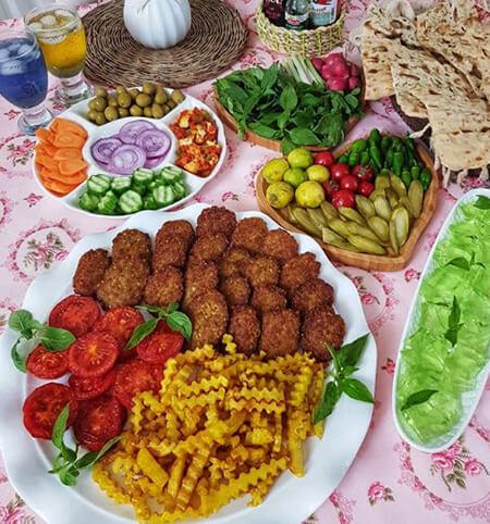 روش تزیین کتلت و کباب شامی, تزیین کباب شامی