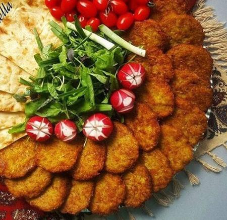 تزیین کتلت, تزیین کتلت و کباب شامی