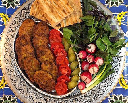 تصاویر تزیین کتلت و کباب شامی, تزیین کردن کتلت و کباب شامی