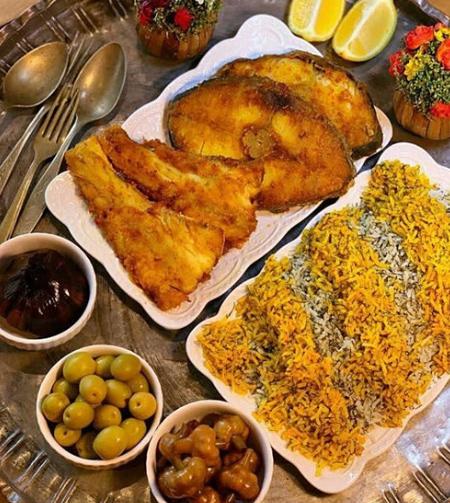 سبزی پلو با ماهی, تزیینات سبزی پلو با ماهی