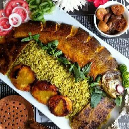 سبزی پلو با ماهی, روش تزیین سبزی پلو با ماهی