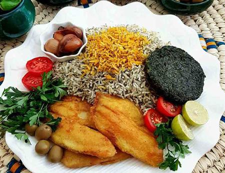 مدل تزیین سبزی پلو با ماهی, تزیین سبزی پلو با ماهی شکم پر