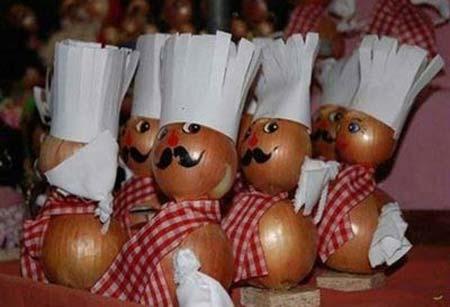 تزیین سیب زمینی و پیاز عروس,عکس تزیین سیب زمینی و پیاز عروس,تزیین پیاز و سیب زمینی عروس