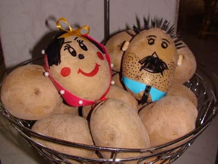 تزیین سیب زمینی و پیاز عروس,مدل تزیین سیب زمینی و پیاز عروس,تزیین پیاز سیب زمینی عروس