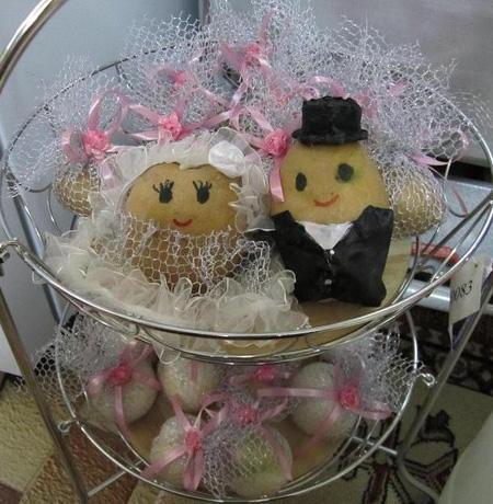تزیین پیاز و سیب زمینی عروس,تزیین سبد پیاز عروس,مدل تزیین سیب زمینی و پیاز عروس