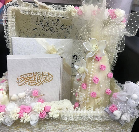 تزیین قرآن عقد,تزیین قرآن ,تزیین قرآن عروس