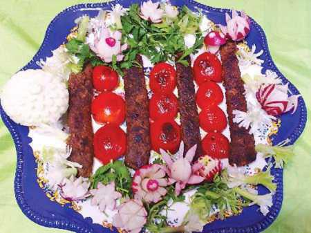 تزیین کباب ,طرز تهیه تزیین کباب