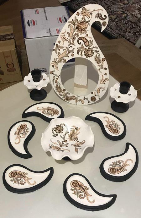 مدل های زیبا از تزیینات ظروف هفت سین,مدل ظروف هفت سین