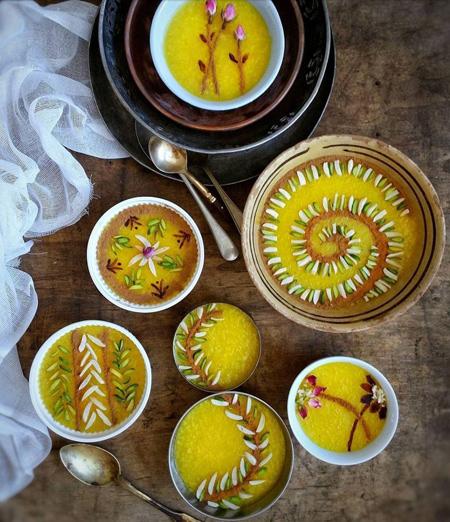 تزیینات شله زرد افطار,تزیین شله زرد مجلسی