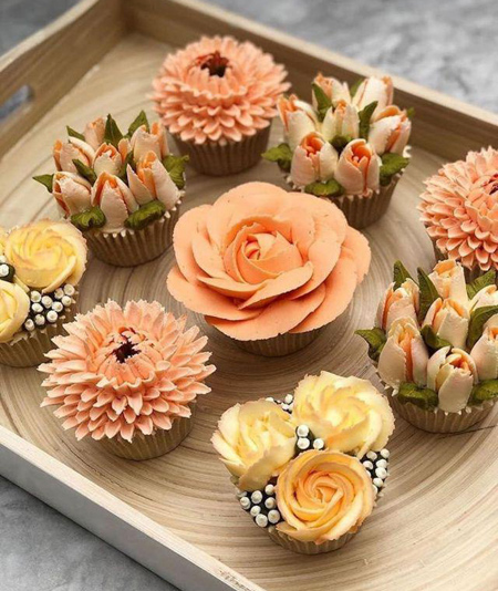 ایده هایی برای تزیین کاپ کیک, مدل های تزیین کاپ کیک