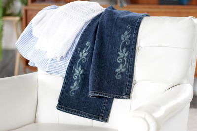 نحوه طراحی روی شلوار جین, آموزش مرحله ای طراحی روی شلوار جین
