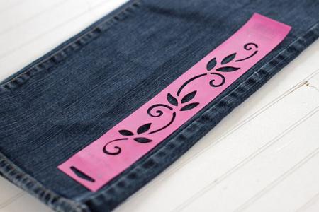 آموزش طراحی روی شلوار جین,آموزش طراحی روی شلوار جین با سفید کننده