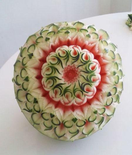 حکاکی روی هندوانه,طراحی هندوانه