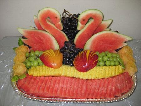 روش تزئین هندوانه, تصاویر تزئین هندوانه