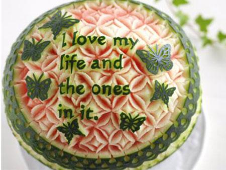 حکاکی روی هندوانه, زیباترین تزیینات هندوانه