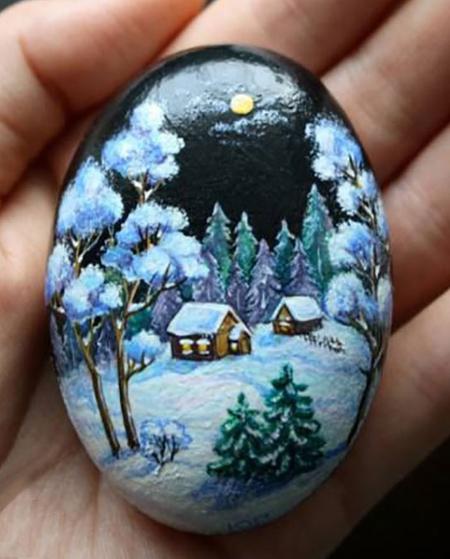 اموزش نقاشی روی سنگ,آموزش نقاشی روی سنگ