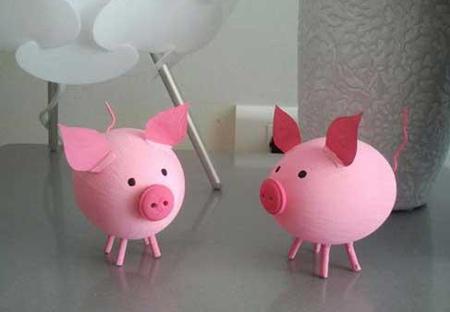 تزيين تخم مرغ هاي هفت سين به شکل حيوانات, مدل تزيين تخم مرغ به شکل خوک