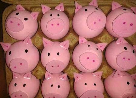 تزيين تخم مرغ هفت سين, تخم مرغ هفت سين به شکل خوک