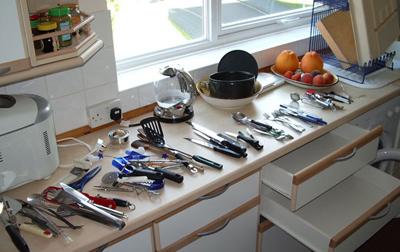 تکنیک های ساده خانه تکانی, شستشوی لوازم خانه