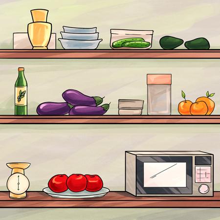 راهنمای نگهداری از مواد غذایی, مکان های مناسب نگهداری از مواد غذایی