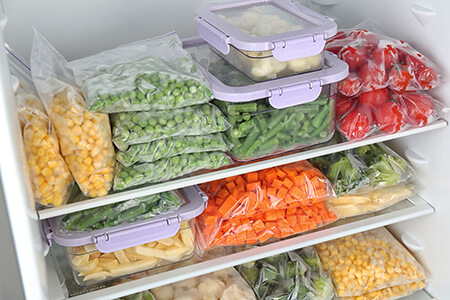 میزان انجماد مواد غذایی, راهنمای انجماد کردن مواد غذایی