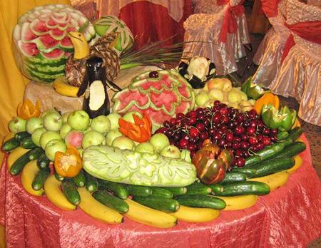 تزیین میوه روی میز 95 جدید,تزیین میوه روی میزسال 95,تزیین میوه برای روی میز سال 95