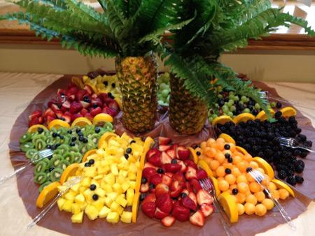 تزیین میوه روی میز برای تولد 1395,تزیین هندوانه95,تزیین میوه روی میز95
