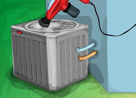 تميز کردن کولر گازي,نحوه تميز کردن کولر گازي