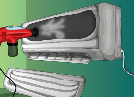 تصاوير تميز کردن کولر گازي, آموزش تصويري تميز کردن کولر گازي