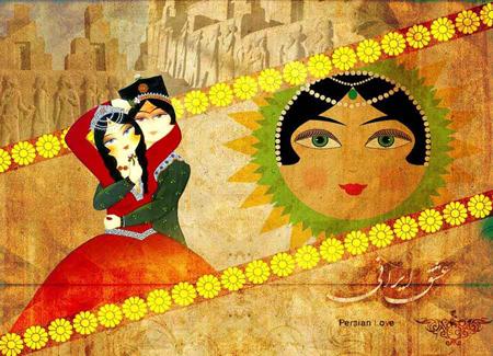کارت پستال جدید تبریک روز سپندارمذگان,جدیدترین کارت پستال های عشق ایرانیان