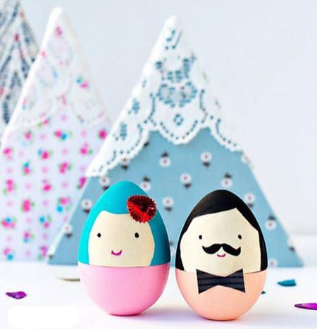 مدل هایی برای تزیین سفره هفت سین,تصاویر تزیین تخم مرغ سفره هفت سین