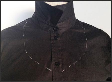 طرح دار کردن پیراهن ساده,آموزش مدل دار کردن یقه های ساده