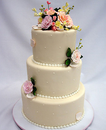 تزیین ساده کیک عروسی, کیک ساده و شیک عروسی